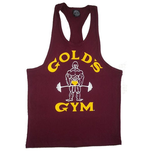 Factory price custom logo t back gym singlet