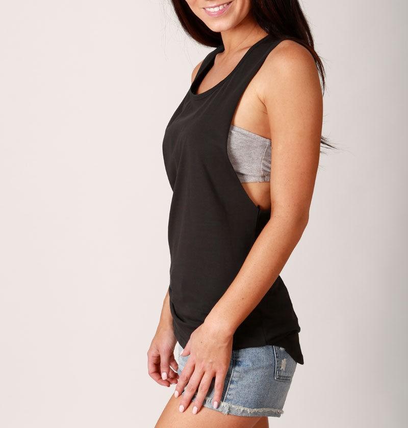 oem design  loose sexy sleeveless tank top