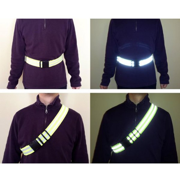 Reflective Elastic Belt Safety Running belt