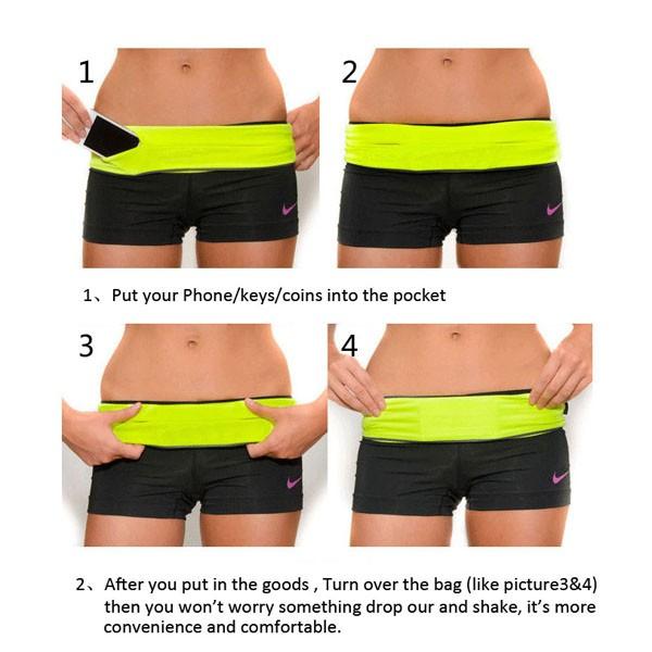 2016 elastic waist sport jogging running belt
